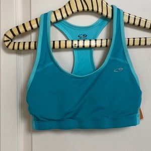 New Champion Sports Bra Turquoise Sz M Duo Dry